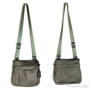 Tumi Leather Trimmed Nylon Crossbody Bag